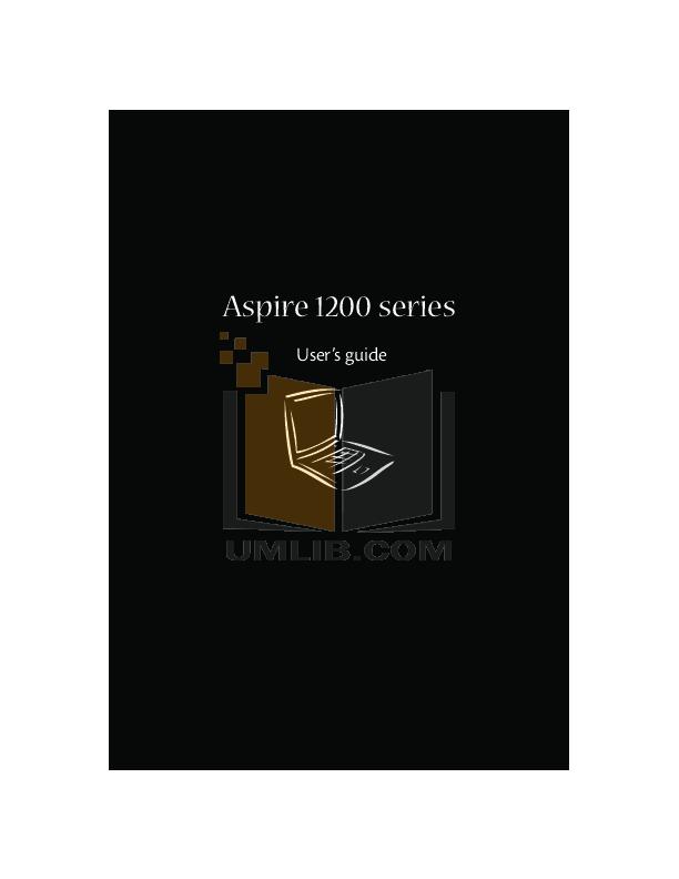 pdf for Acer Desktop Aspire M1200 manual