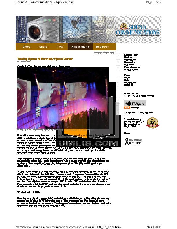 pdf for Eaw Speaker System MK2194e manual