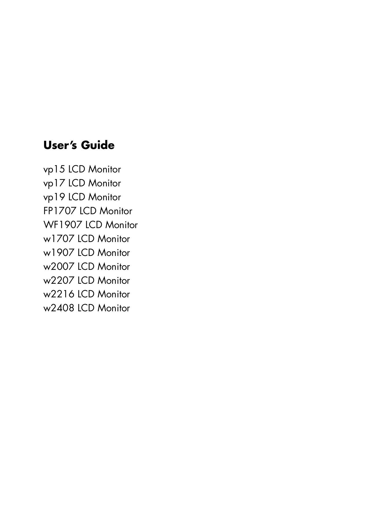 Mnl-4948] hp w1907 lcd monitor service manual | 2019 ebook library.