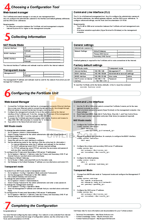 PDF manual for Fortinet Router FortiGate FortiGate-50B