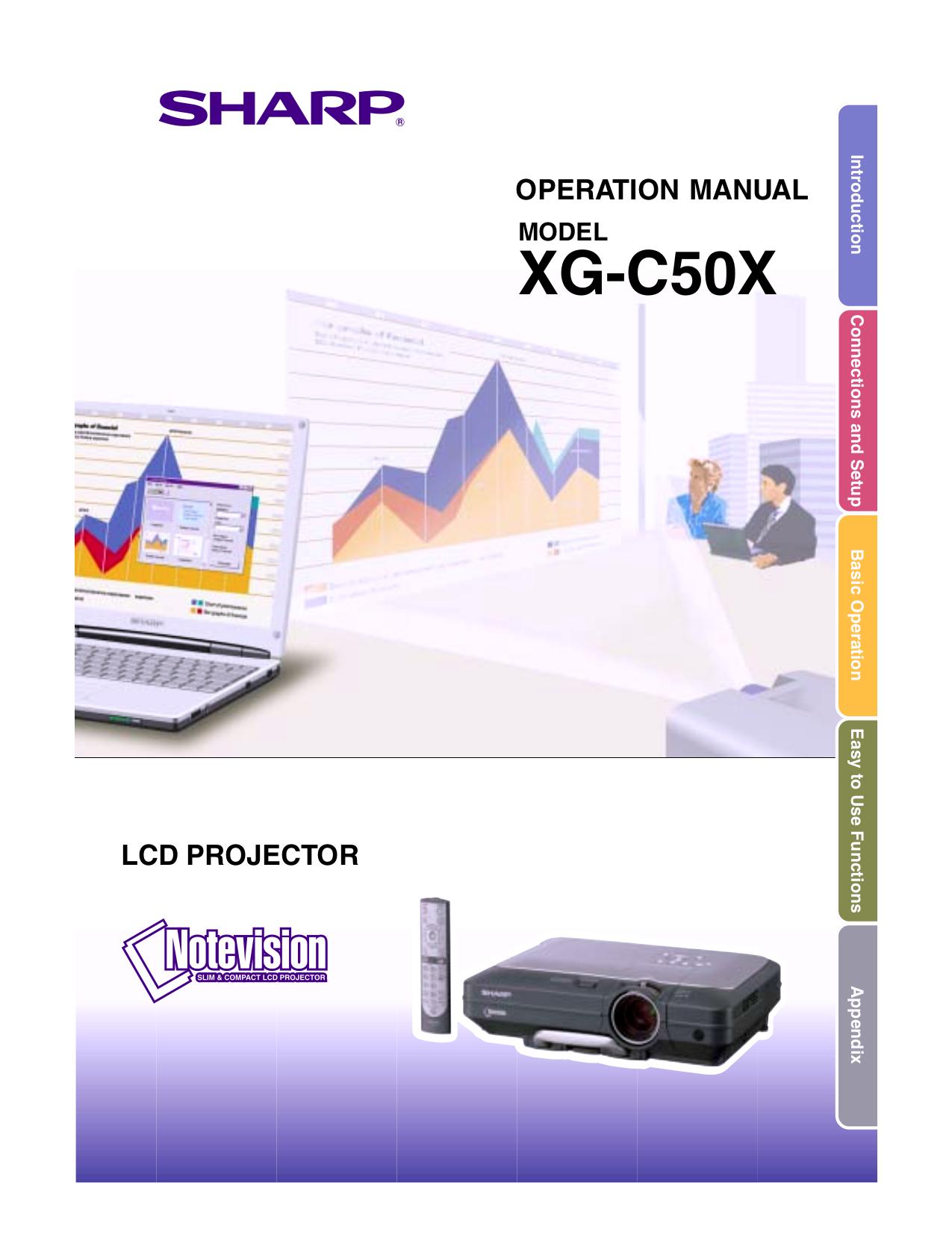 Sharp pg-f312x notevision xga dlp projector manuals.
