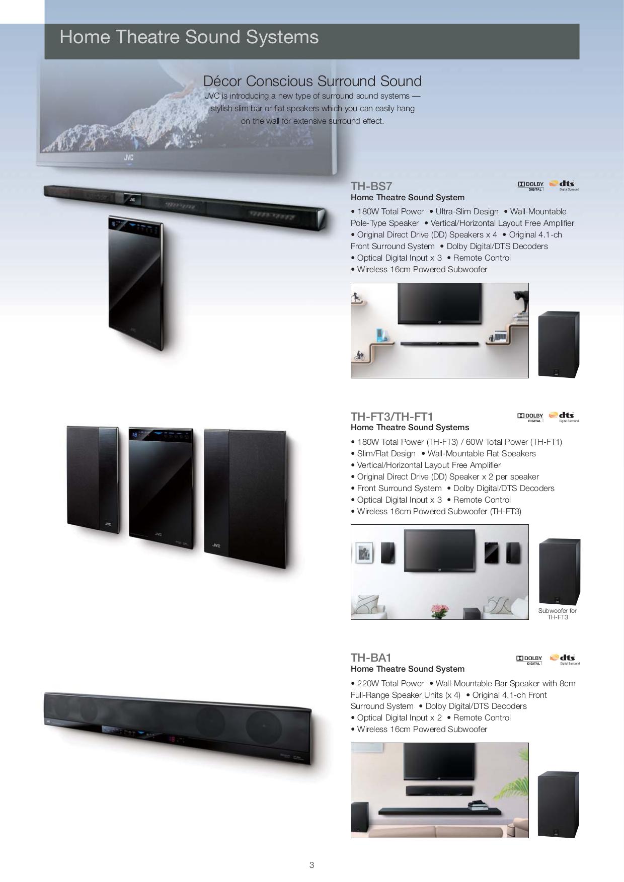 pdf manual for jvc home theater th bs7 rh umlib com JVC TH G31 JVC TH-BA1 Sound Bar