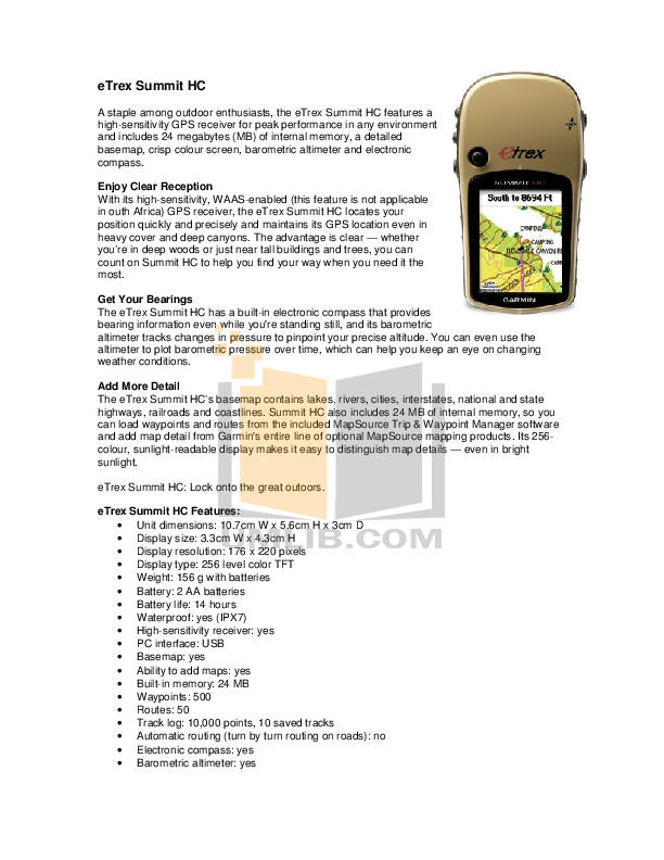 download free pdf for garmin etrex summit hc gps manual rh umlib com etrex summit hc manual español gps etrex summit hc manual