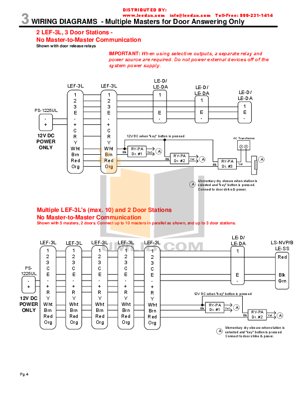 AIPHONE LEF 3L Wiring.pdf 3 wat pdf manual for aiphone other lef 10s intercoms 2Wire Intercom Schematic at gsmx.co
