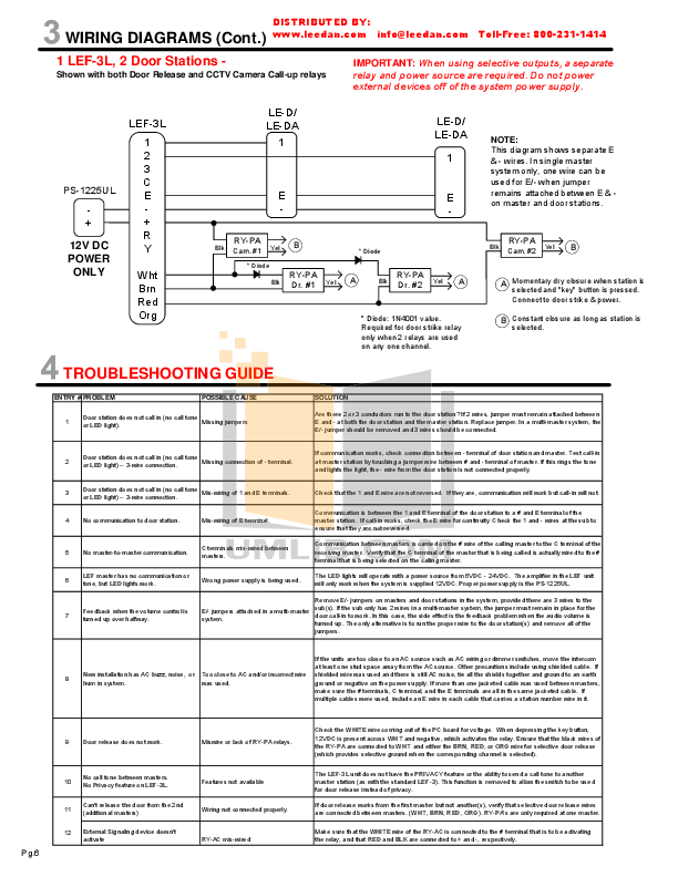 AIPHONE LEF 3L Wiring.pdf 5 wat pdf manual for aiphone other lef 10s intercoms aiphone lef 3l wiring diagram at gsmx.co
