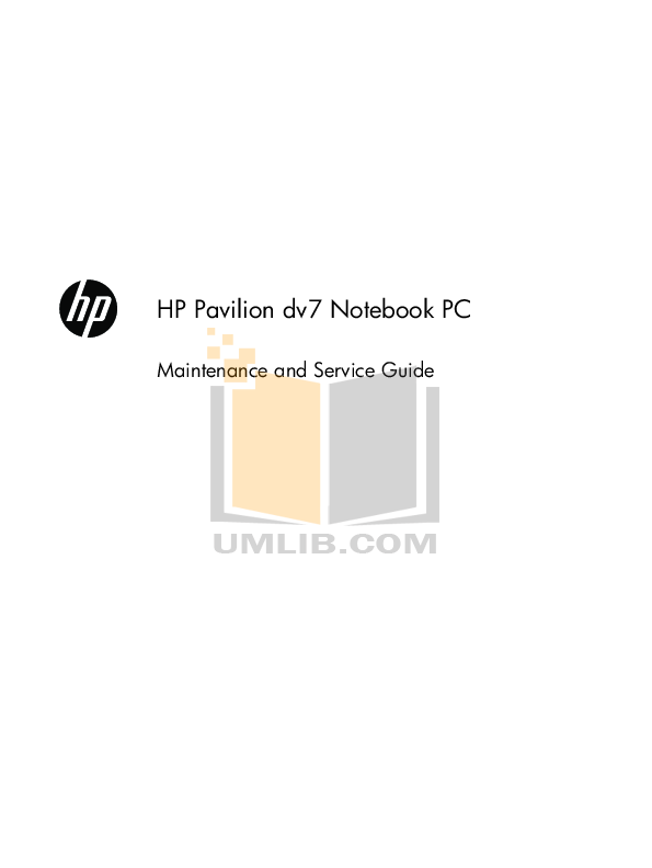 pdf for HP Laptop Pavilion DV1355 manual