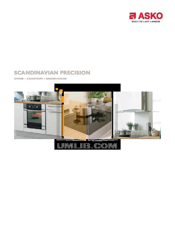 pdf for Asko Oven O830S manual