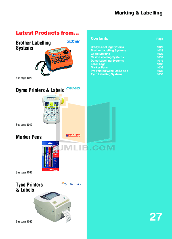 pdf for Brother Printer PT-2500PC manual
