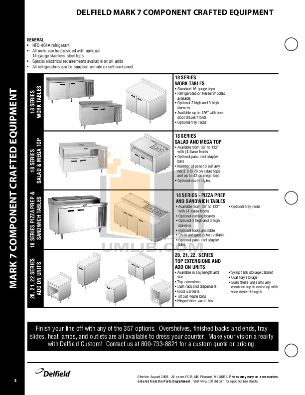 Delfield Other CAB2-1200QT Dish Dispensers pdf page preview