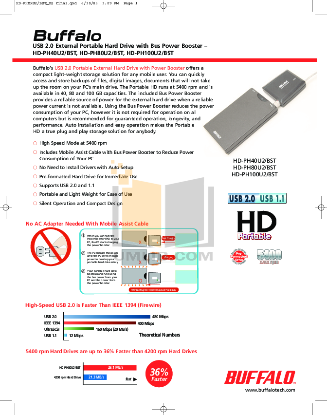 pdf for Buffalo Storage HD-PH40U2 manual