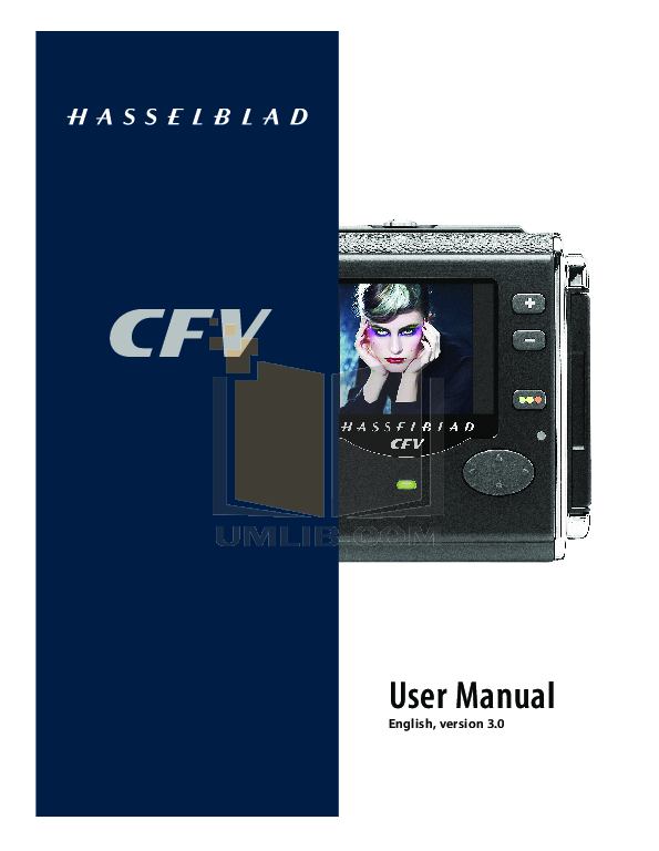 pdf for Hasselblad Digital Camera 203FE manual