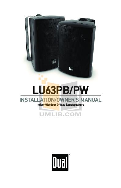 pdf for Dual Speaker LU63P manual