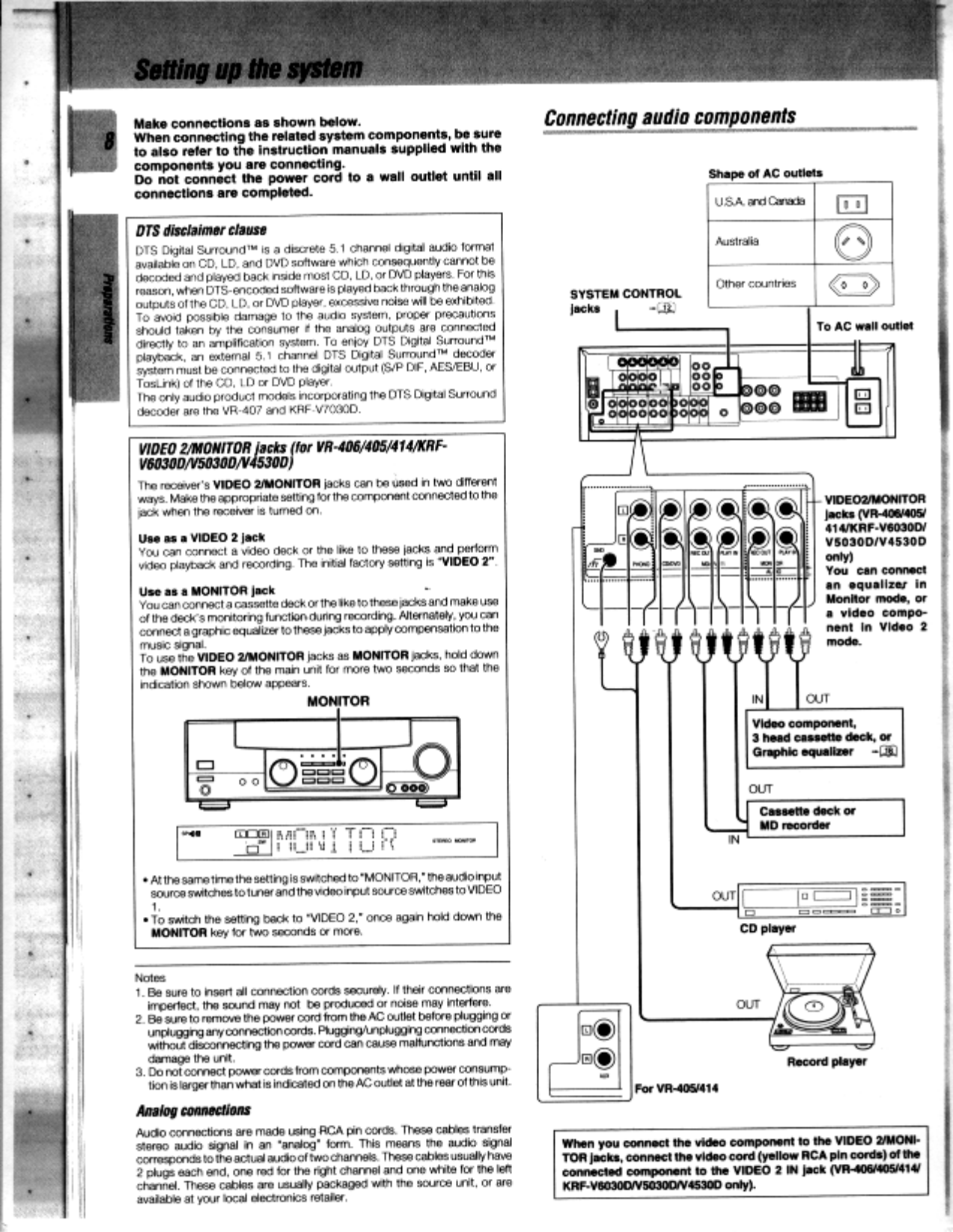 ... Kenwood Receiver VR-406 pdf page preview