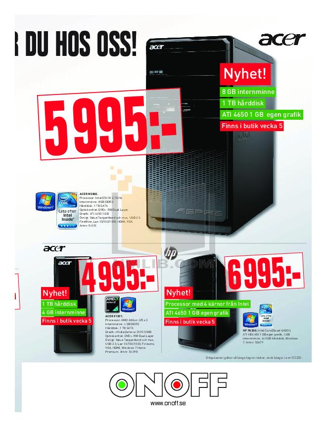 Acer Desktop Aspire M3802 pdf page preview