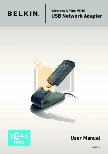 pdf for Belkin Router F5D9050uk manual