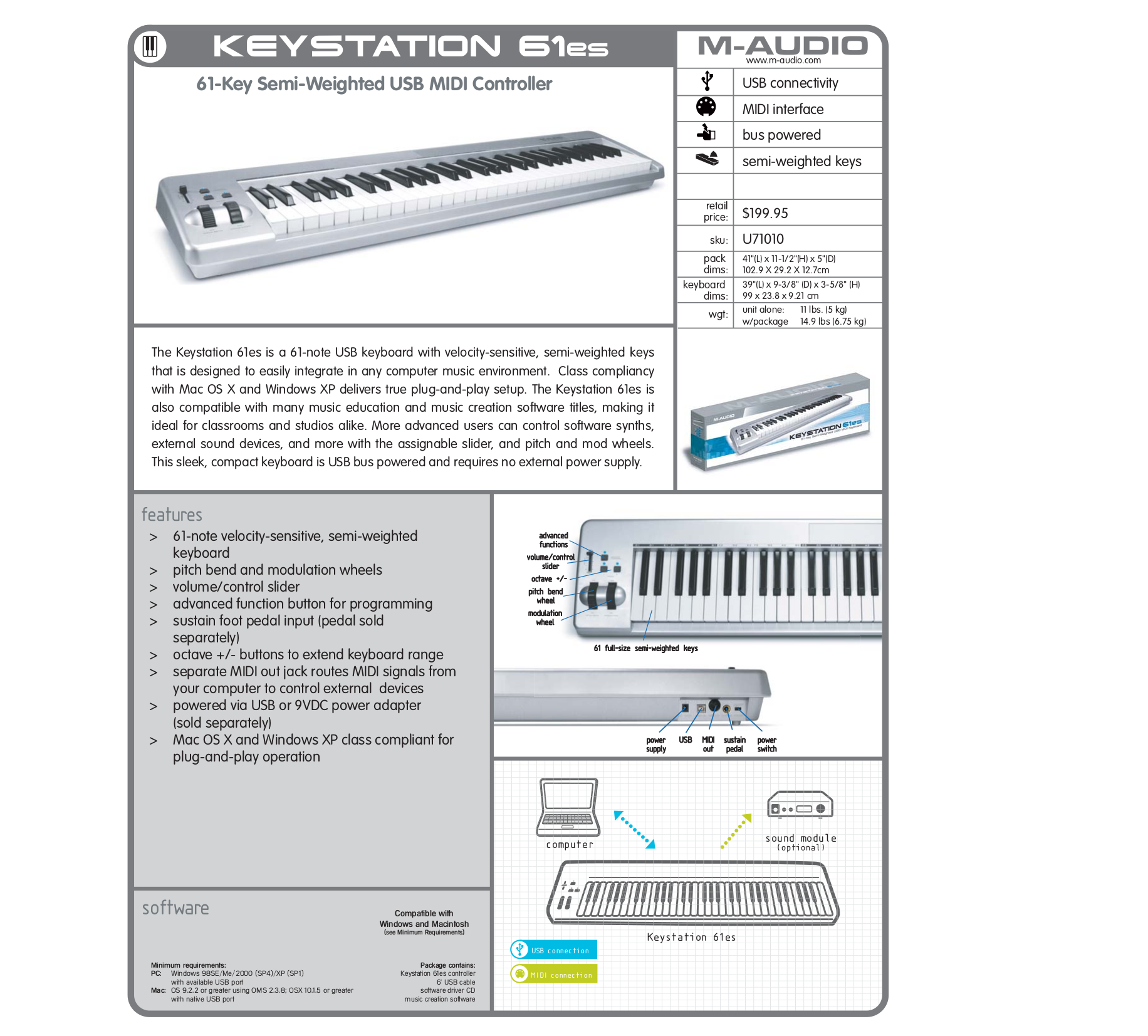 download free pdf for m audio keystation 61es music keyboard manual rh umlib com m audio venom manuel m-audio av32.1 manual
