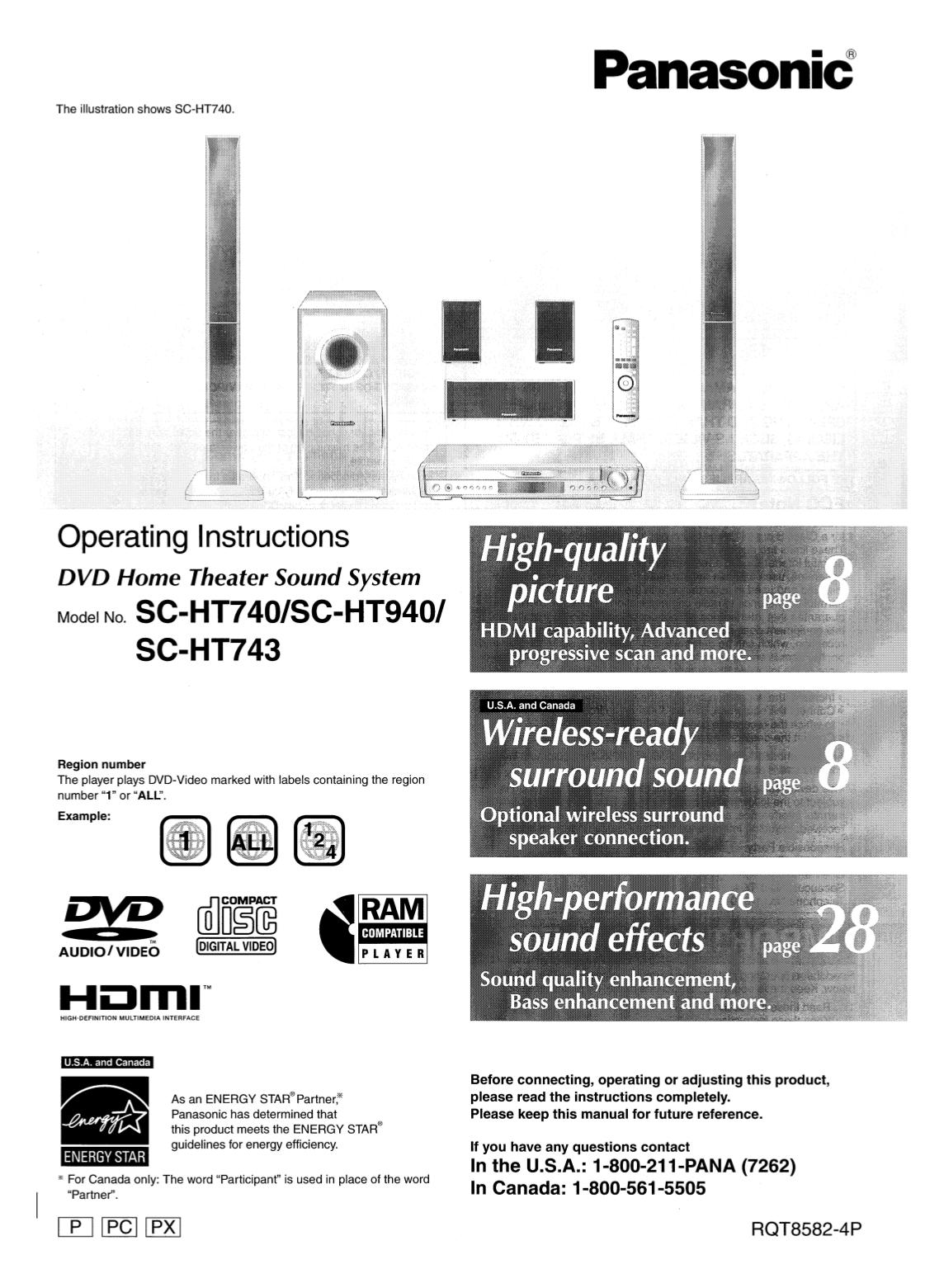 download free pdf for panasonic sa ht743 home theater manual rh umlib com panasonic home theater system manual sa pt960 panasonic home theater manual sa ht670