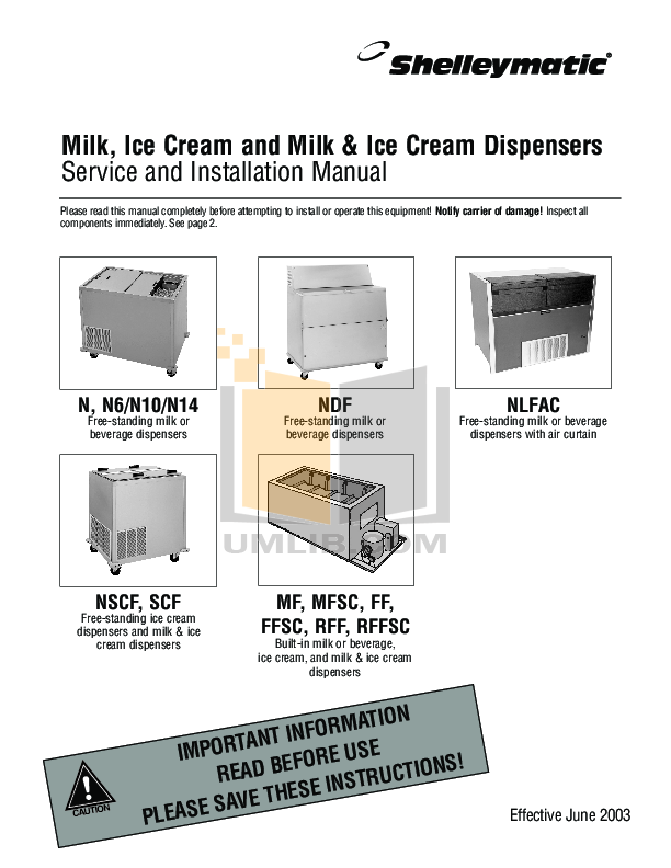 pdf for Delfield Refrigerator RFF-103 manual