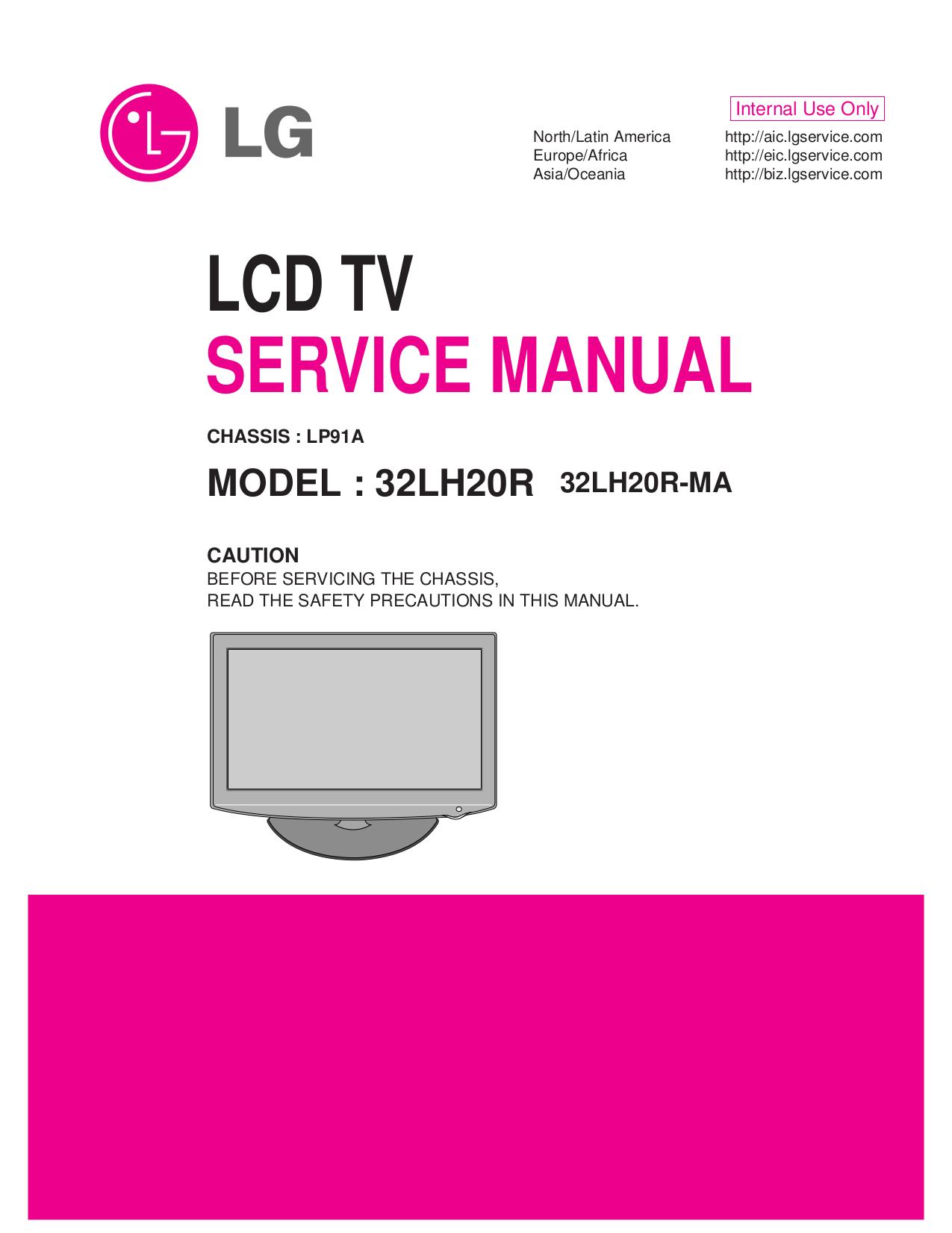 pdf for LG TV 32LH20R manual