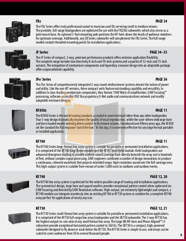 Eaw Speaker System DSA230 pdf page preview
