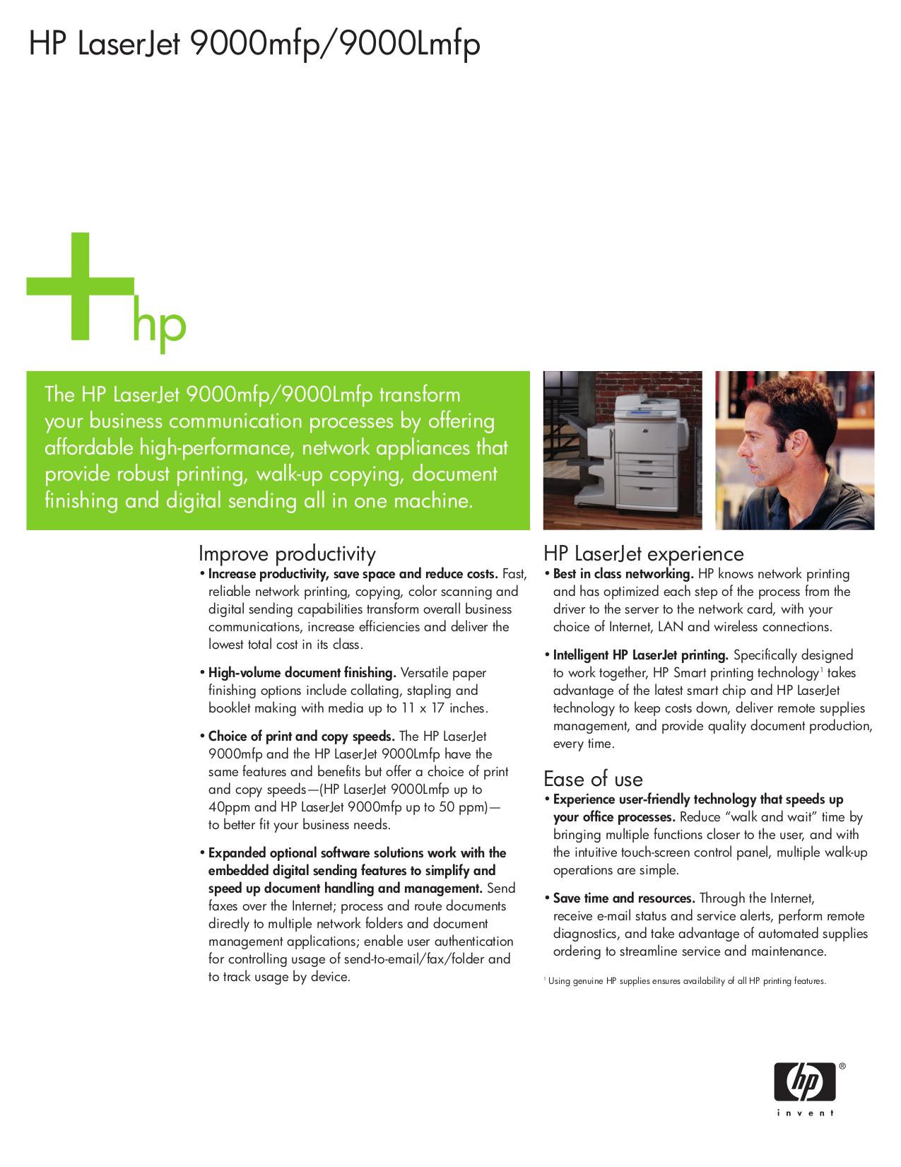 Download free pdf for HP Laserjet,Color Laserjet 9000 MFP ...