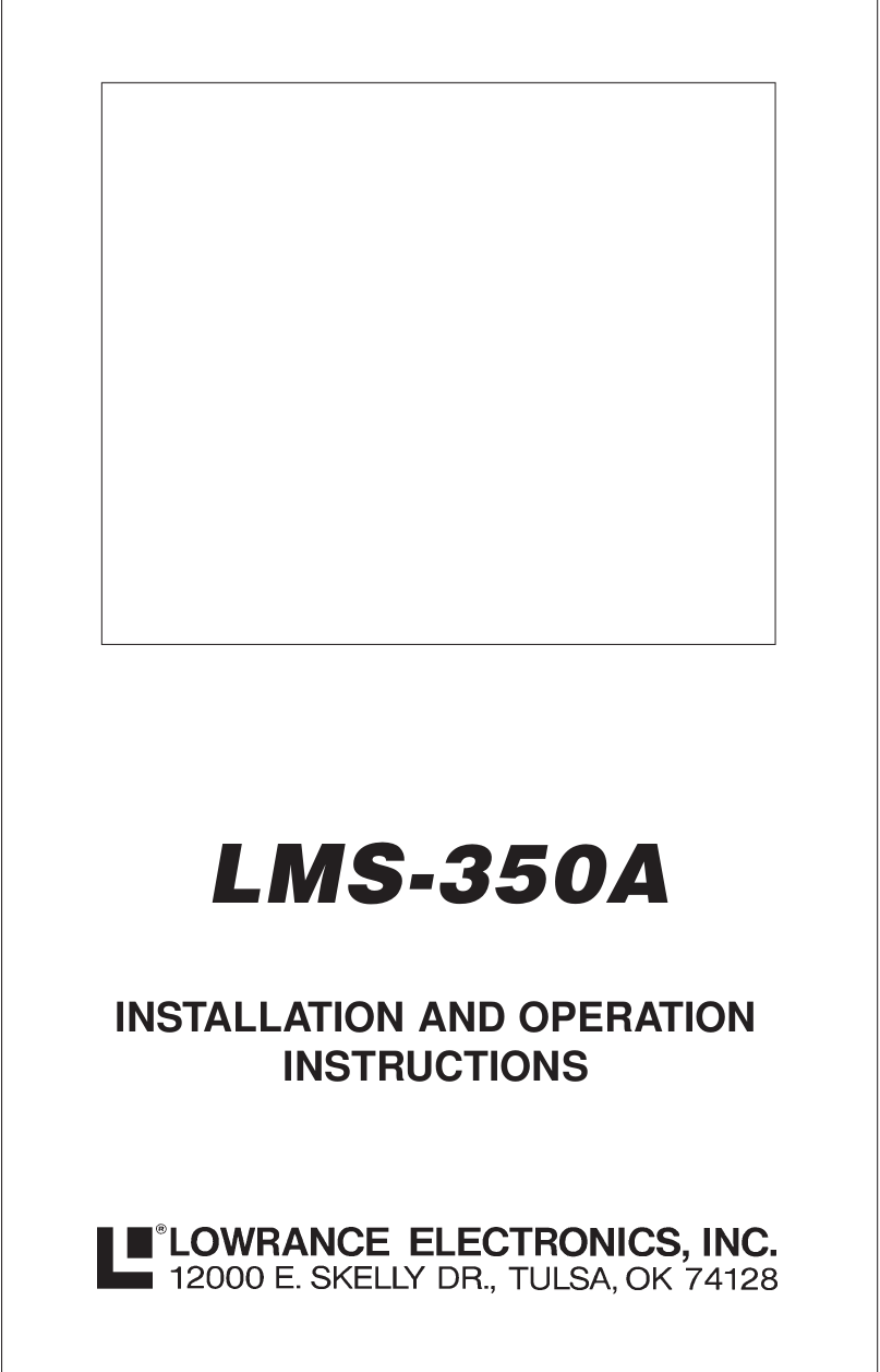 pdf for Lowrance GPS LMS-10 Loran-C manual