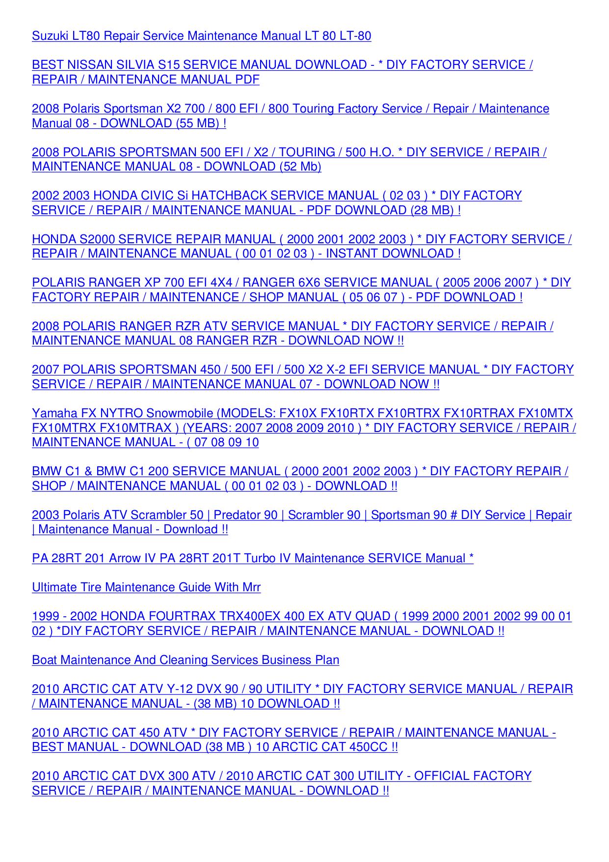 honda civic 1999 service manual download