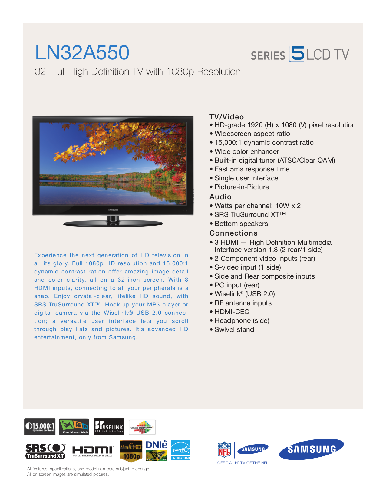 download free pdf for samsung ln32a550 tv manual rh umlib com samsung ln32a550 manual samsung ln32a550 manual