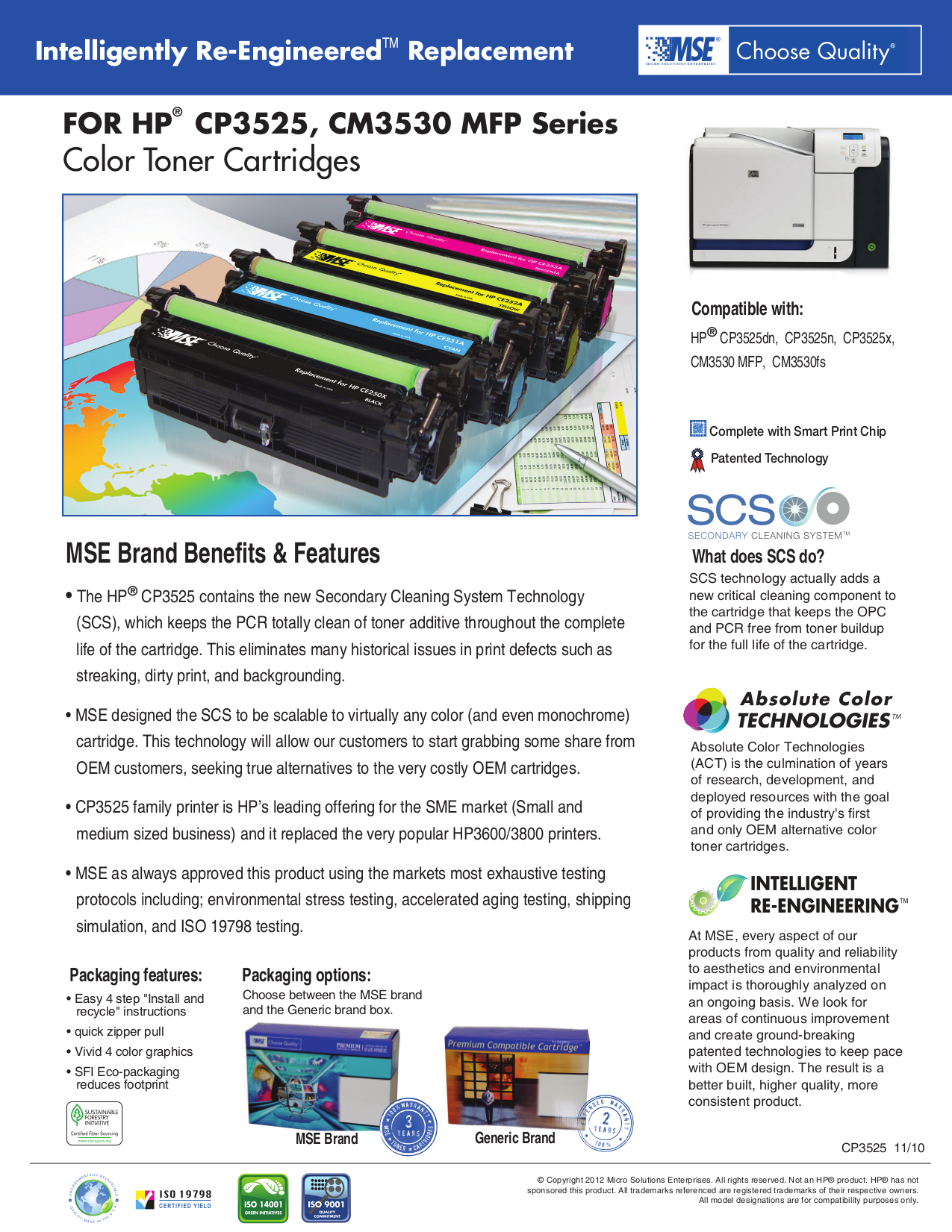pdf for HP Printer Laserjet,Color Laserjet CP3525dn manual