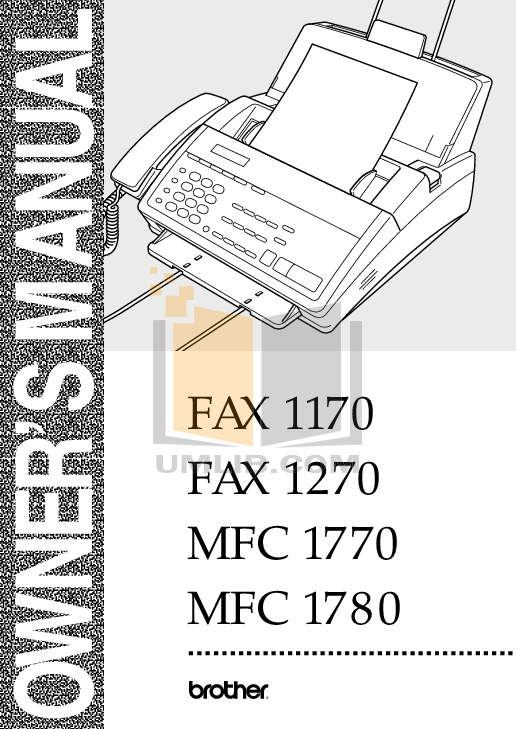 pdf for Brother Fax Machine IntelliFAX 1350M manual