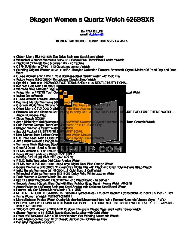 pdf for Diesel Watch DZ1384 manual