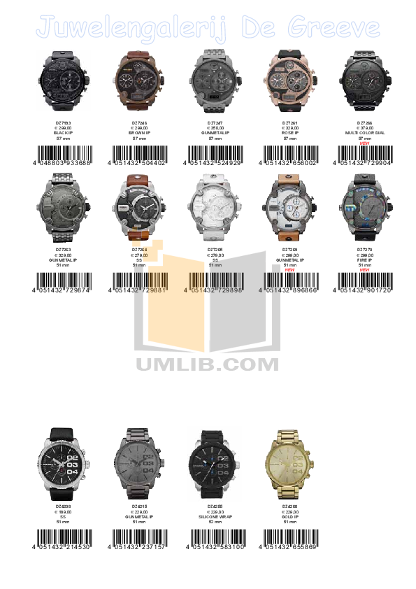Diesel Watch DZ1384 pdf page preview