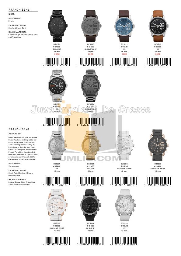 Diesel Watch DZ1384 pdf page preview