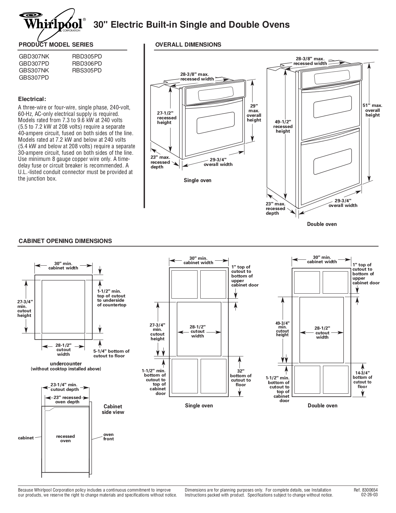 download free pdf for whirlpool rbd306pd oven manual