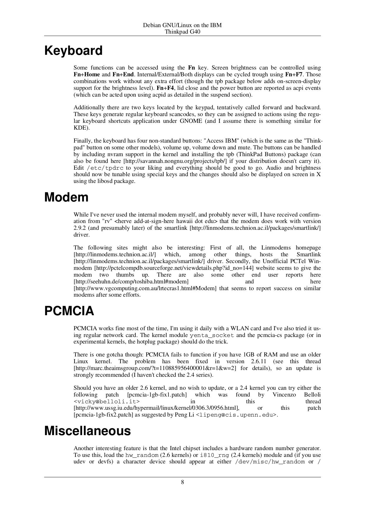 PDF manual for IBM Laptop ThinkPad 390E