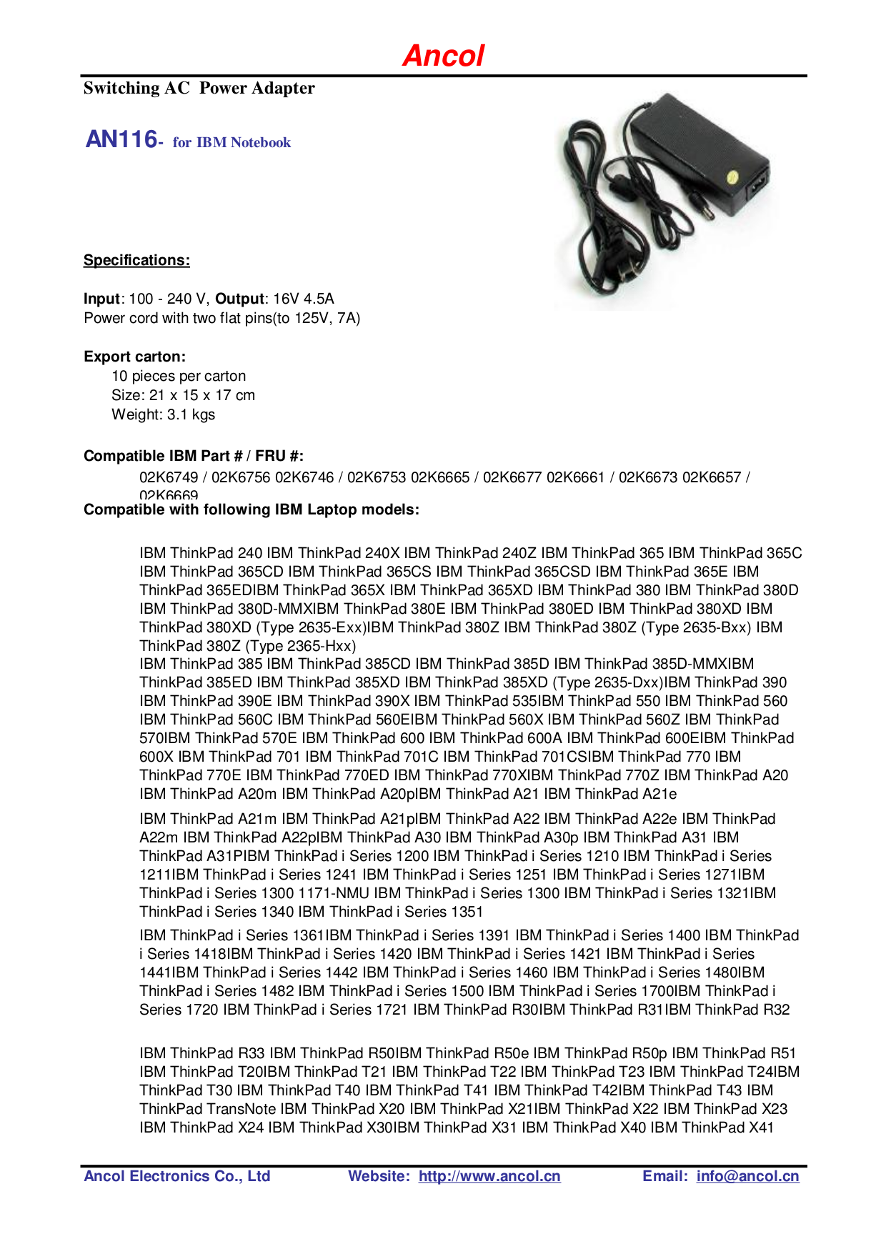 pdf for IBM Laptop ThinkPad X23 manual