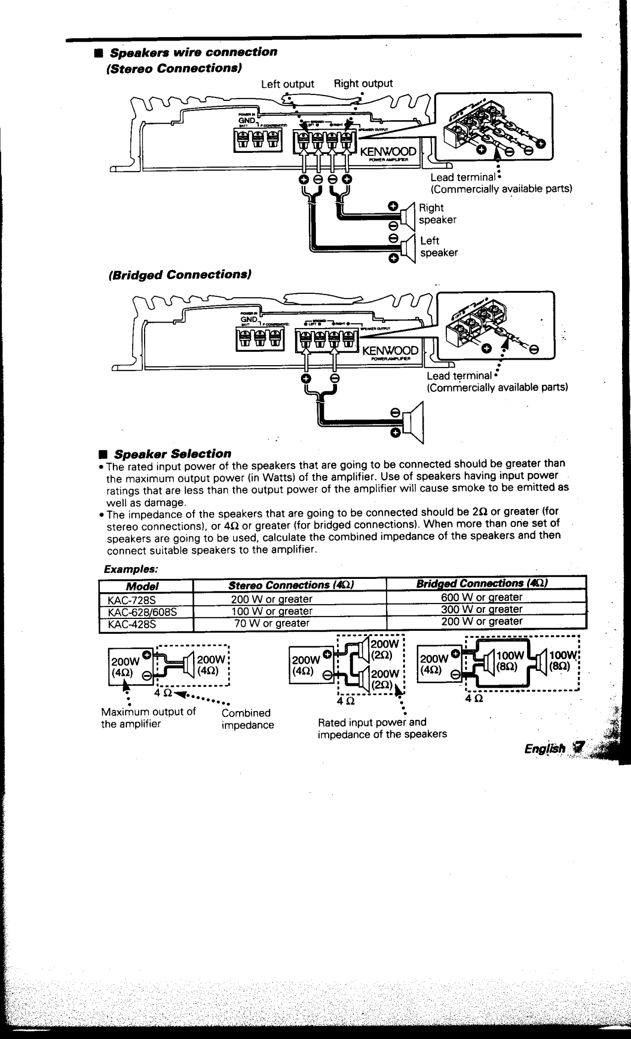 Wiring Diagram Kenwood Amplifier Kac 4285 Electrical Ddx7015 Pdf Manual For Car 428s Rh Umlib Com Speakers Jl 882
