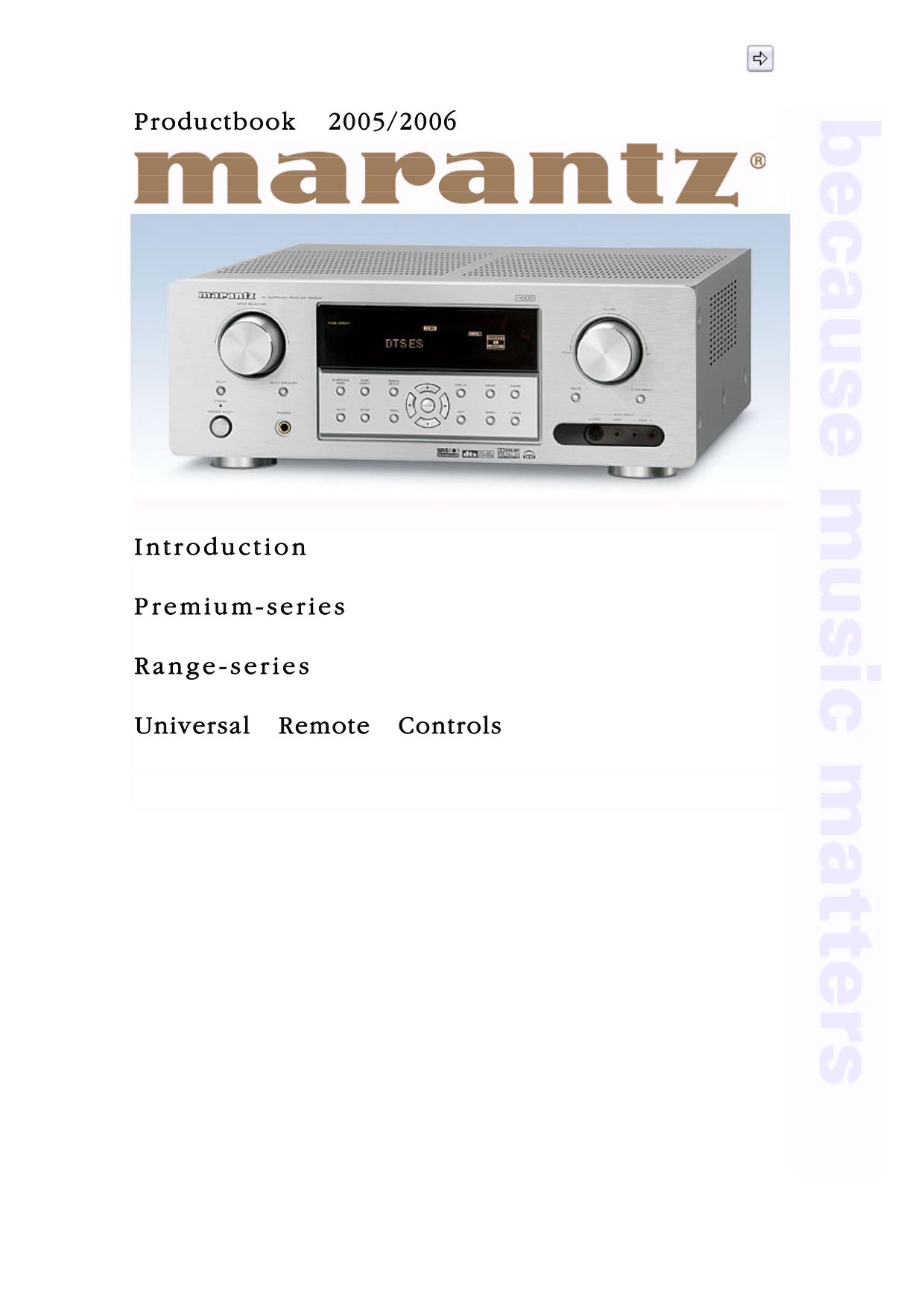 pdf for Marantz Amp PM-11S1 manual