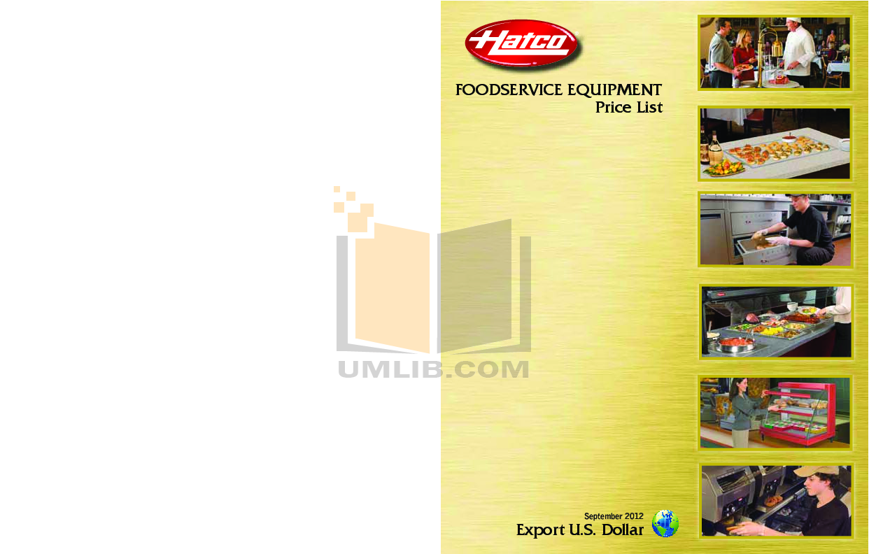 pdf for Hatco Other UGA-30D manual