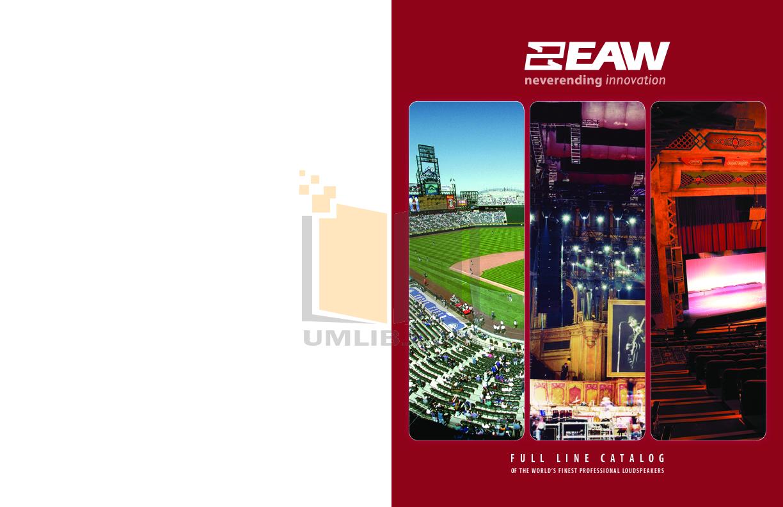 pdf for Eaw Speaker System FR200 manual