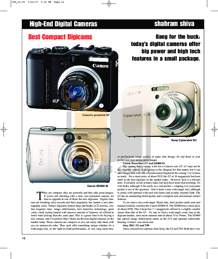 pdf for Canon Digital Camera Powershot SD800 IS manual