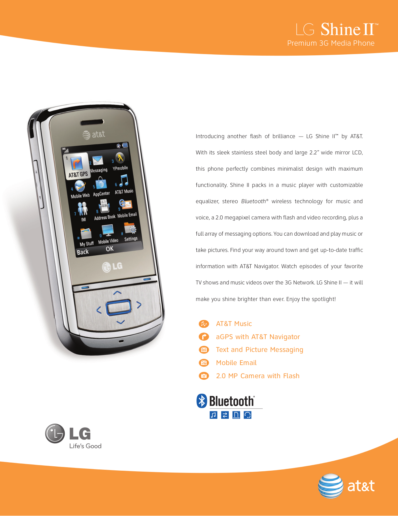 pdf for LG Cell Phone Shine II manual