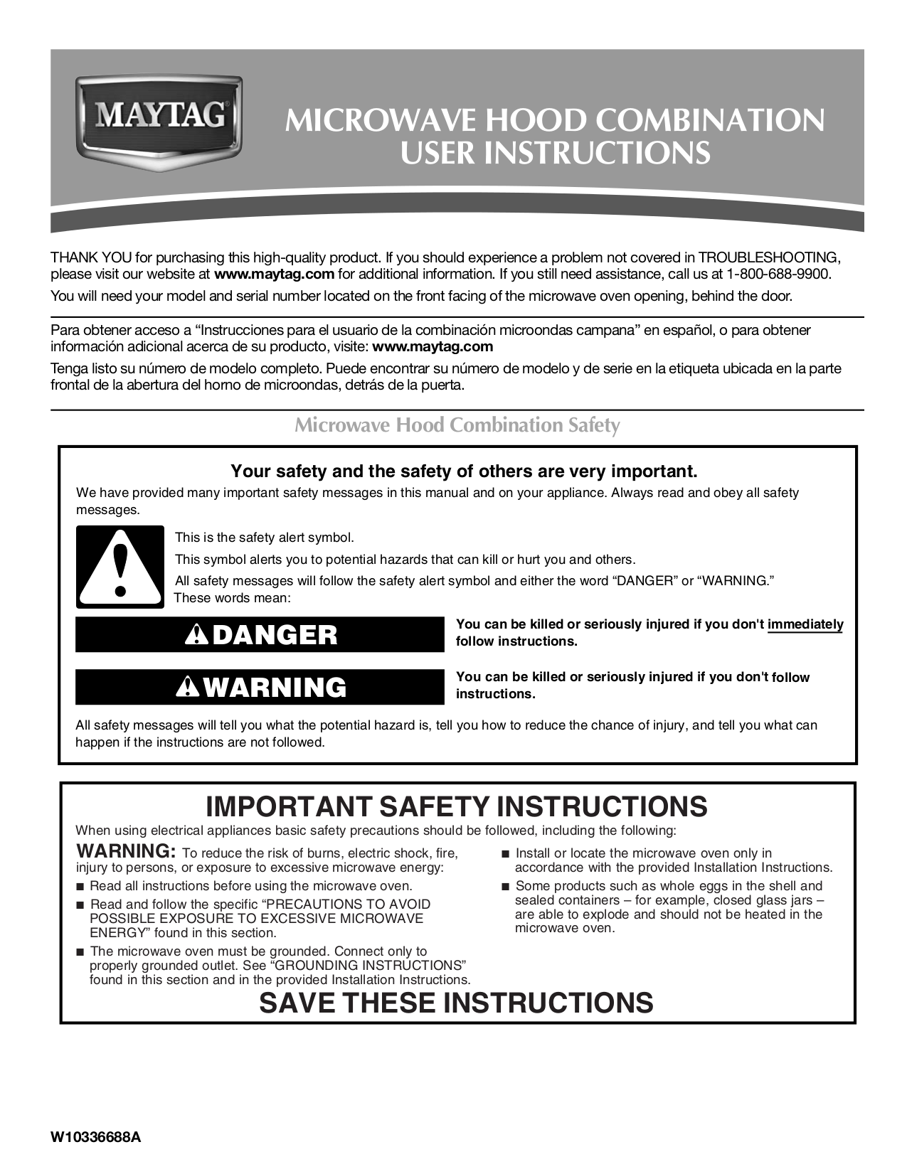 Pdf For Maytag Microwave Mmv5208ws Manual