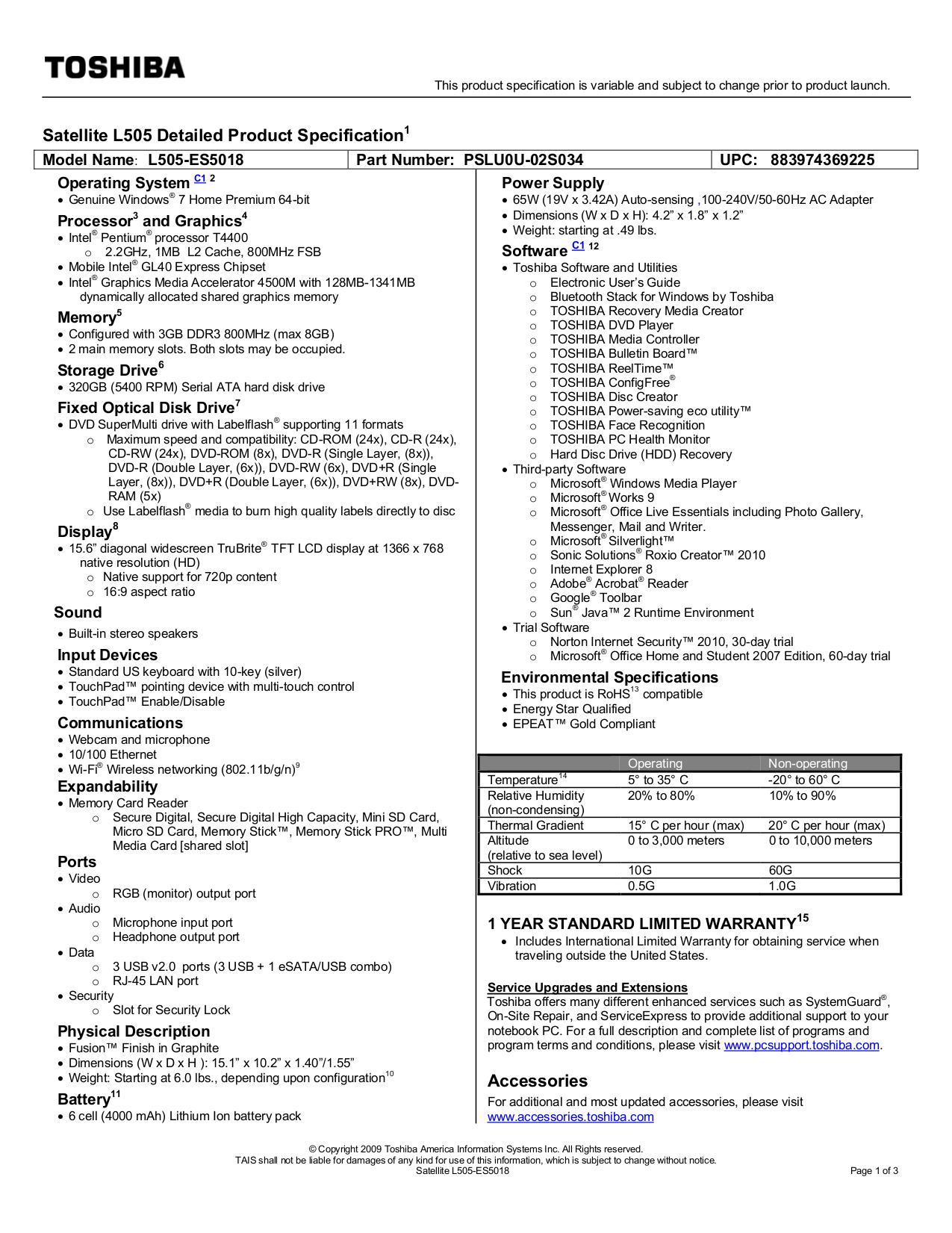 download free pdf for toshiba satellite l505 es5018 laptop manual rh umlib com Toshiba Satellite L505D-LS5001 Charger toshiba satellite l505 manual