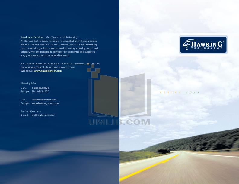 pdf for Hawking Router HAI8DD manual