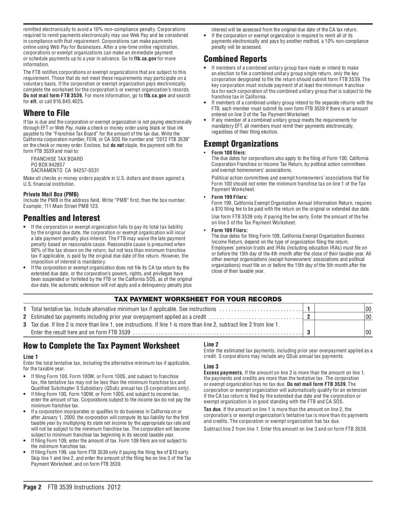 Amt exemption worksheet 2012