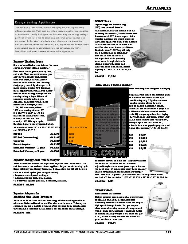 pdf for Equator Washer EZ1500 manual