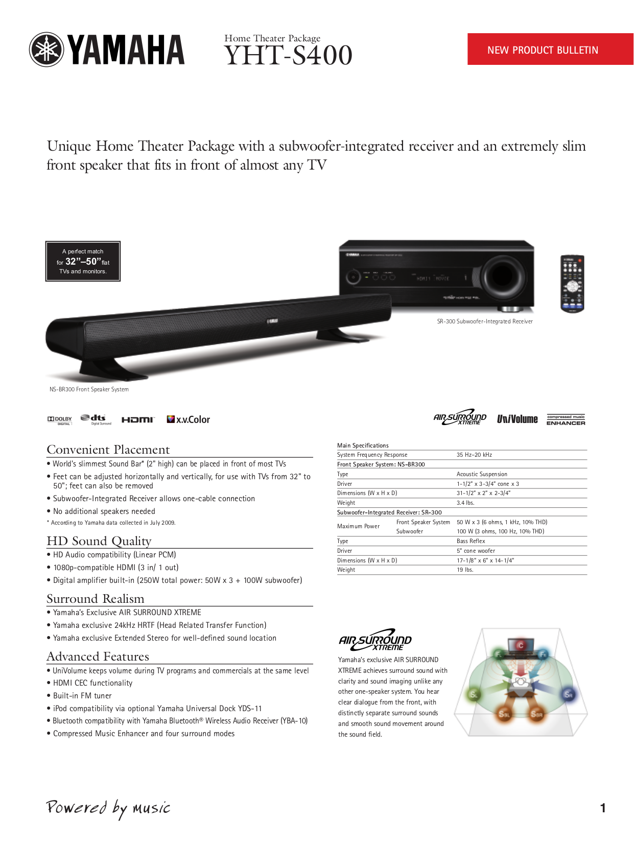 download free pdf for yamaha yht s400 home theater manual rh umlib com Yamaha Home Theater System yamaha yht-s400 manual