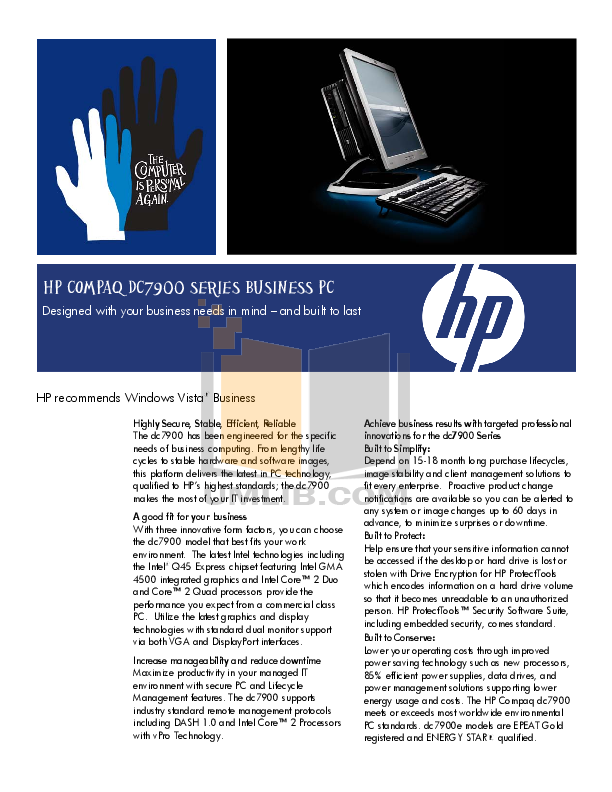 hp compaq dc7600 manual pdf