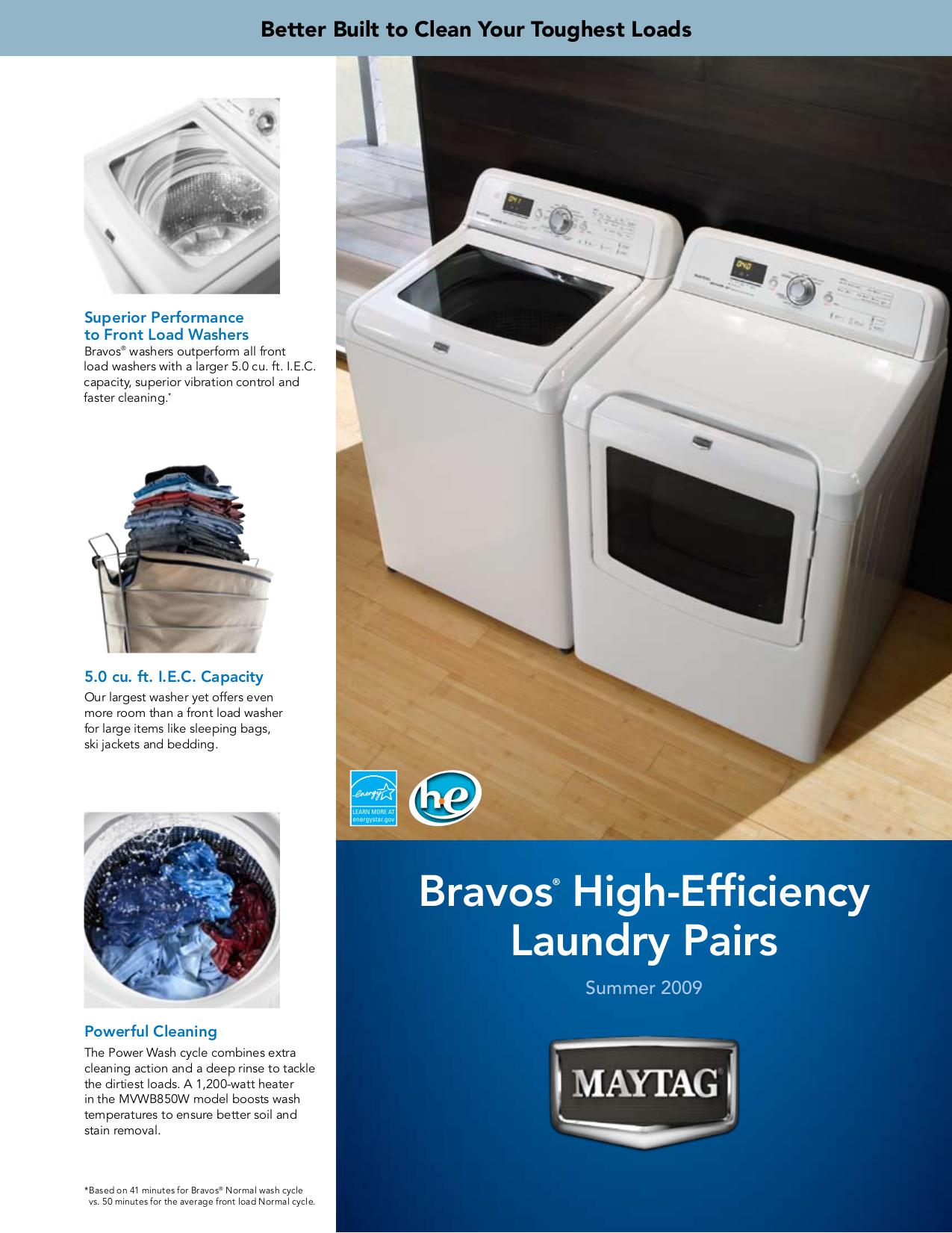 download free pdf for maytag bravos mvwb850w washer manual